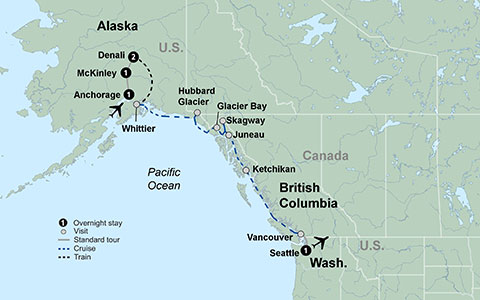 Alaska Discovery Land and Cruise tour