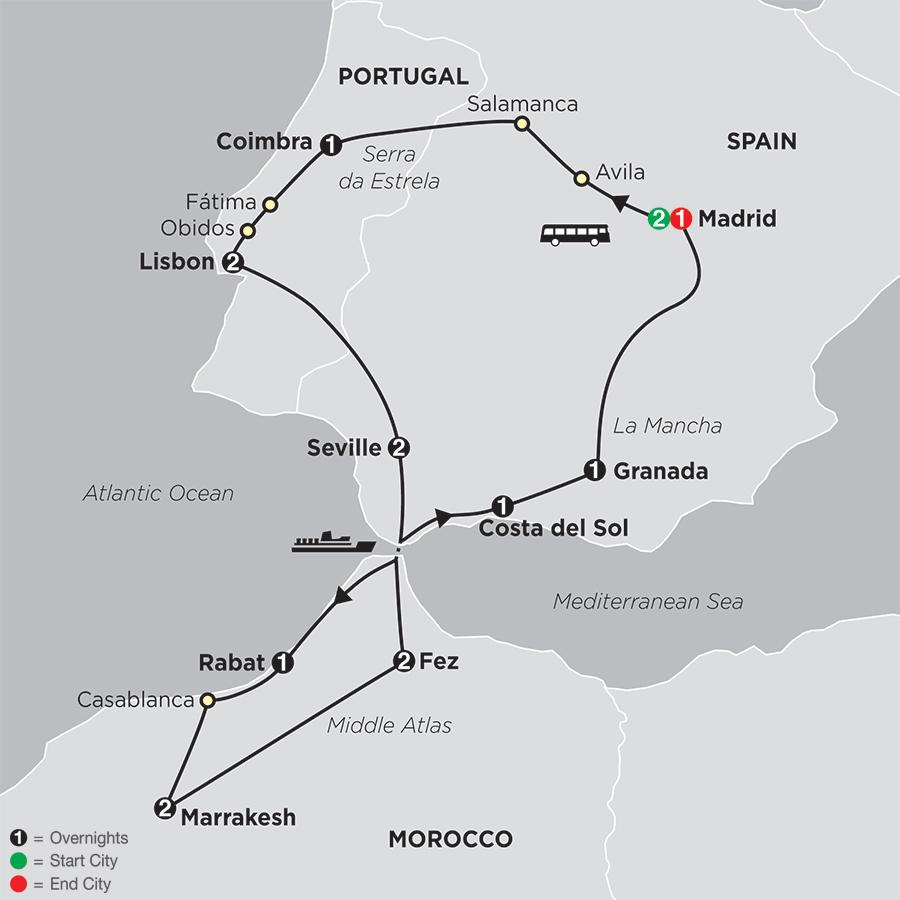 Spain Portugal & Morocco